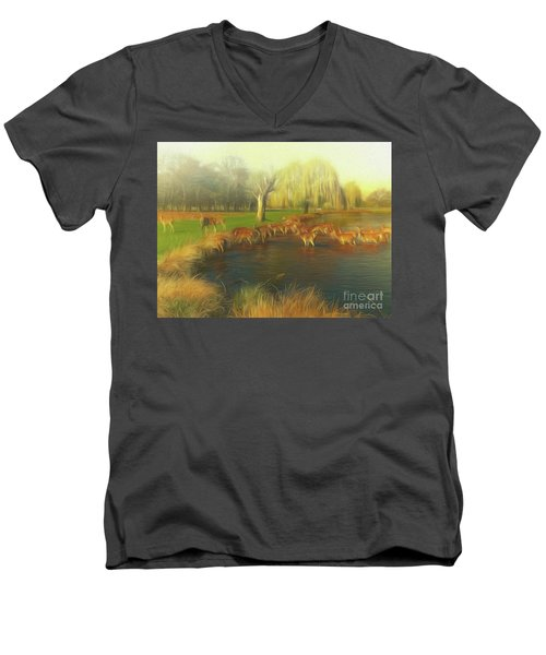 Watering Hole Men's V-Neck T-Shirt