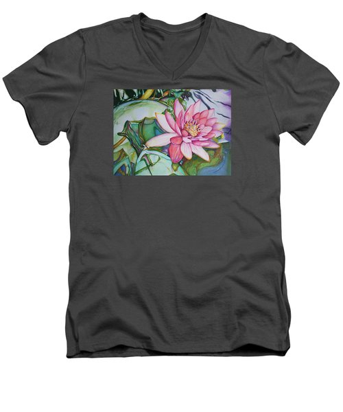 Waterlily Men's V-Neck T-Shirt