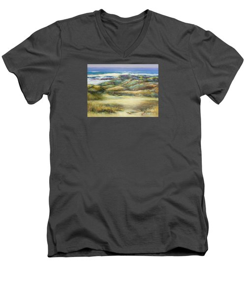 Water's Edge Men's V-Neck T-Shirt by Glory Wood