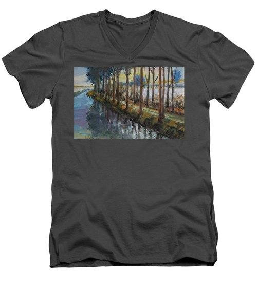 Waterway Men's V-Neck T-Shirt by Rick Nederlof