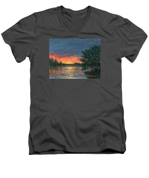 Waterway Sundown Men's V-Neck T-Shirt