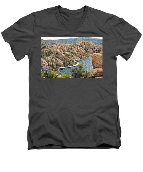 Watson Lake Dam Men's V-Neck T-Shirt