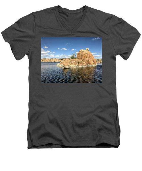 Watson Lake Rock Island Men's V-Neck T-Shirt