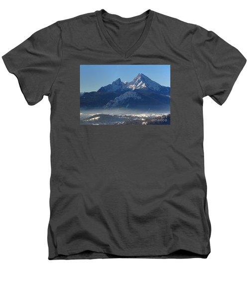Watzmann Bavaria 1 Men's V-Neck T-Shirt by Rudi Prott