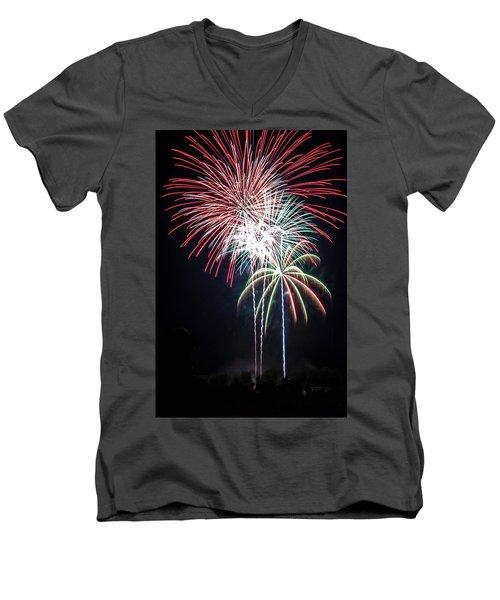 Waukesha Fireworks 01 Men's V-Neck T-Shirt