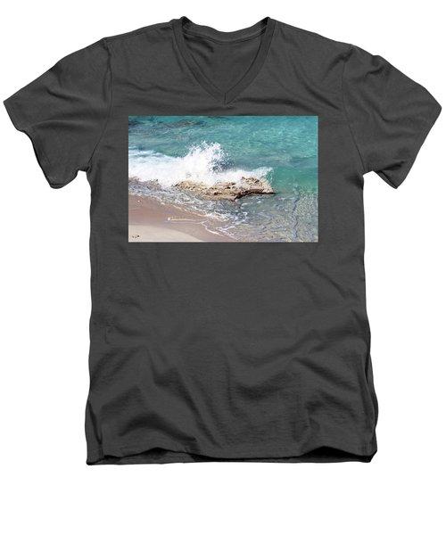 Gentle Wave In Bimini Men's V-Neck T-Shirt