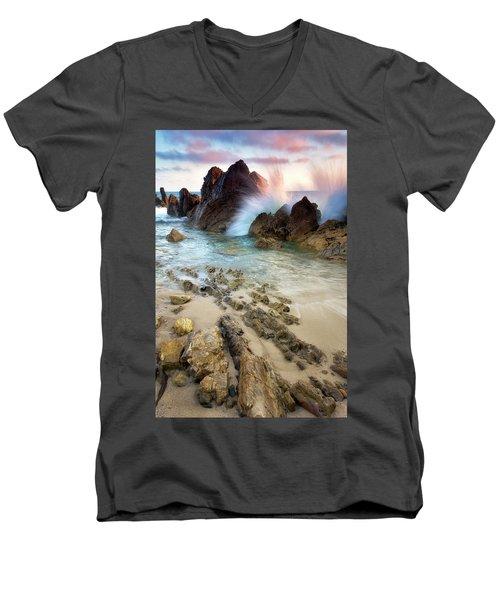 Wave Breaker  Men's V-Neck T-Shirt