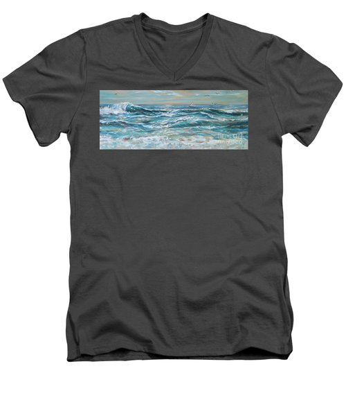 Waves And Wind Men's V-Neck T-Shirt