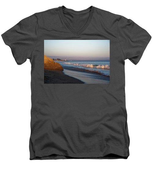Waves At Santa Cruz Men's V-Neck T-Shirt