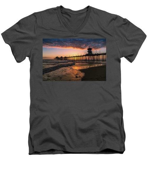 Waves At Sunset Men's V-Neck T-Shirt