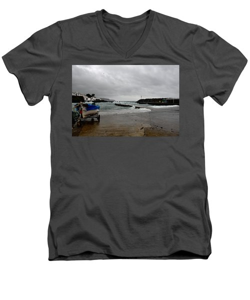 Waves Azores-033 Men's V-Neck T-Shirt