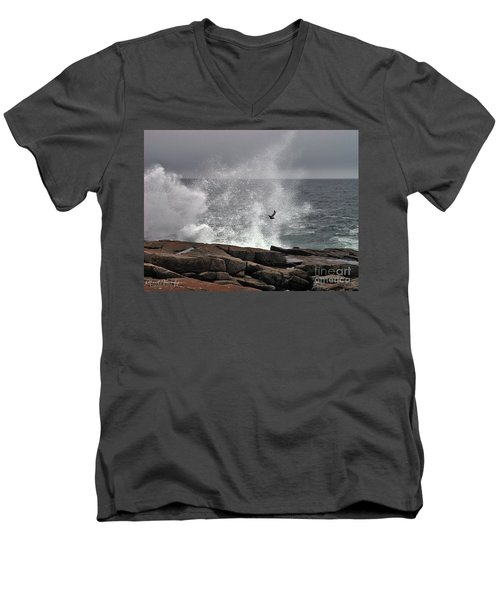 Waves Crashing  Men's V-Neck T-Shirt