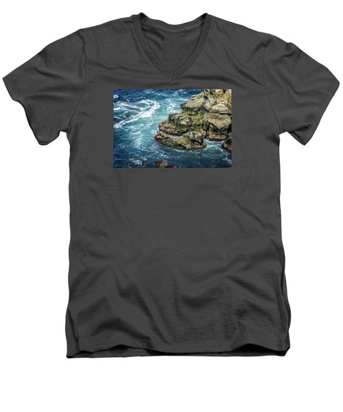 Waves Of Blue Men's V-Neck T-Shirt