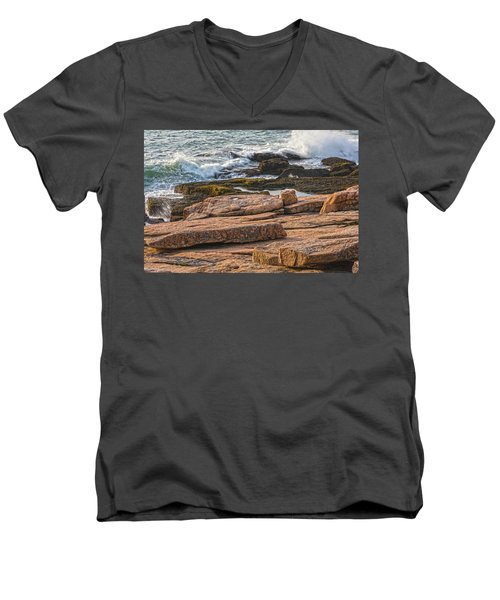Waves Of Stone Men's V-Neck T-Shirt