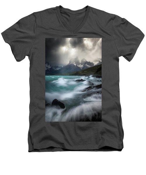 Waves On Waves Men's V-Neck T-Shirt