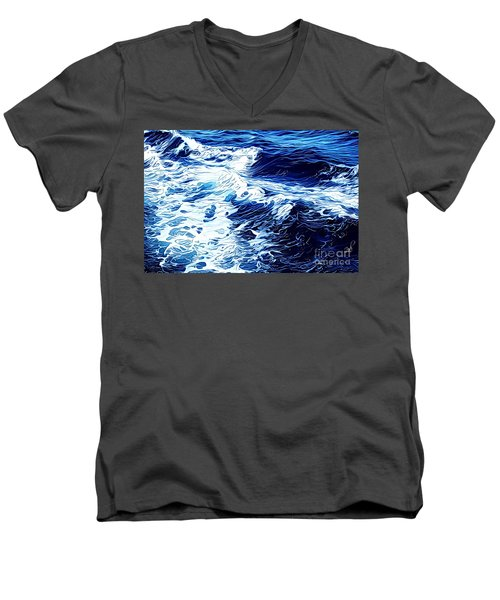 Waves Men's V-Neck T-Shirt