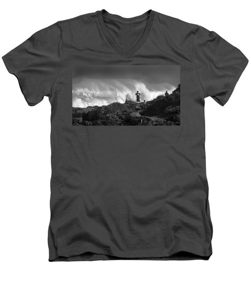 Wavewatchers Men's V-Neck T-Shirt