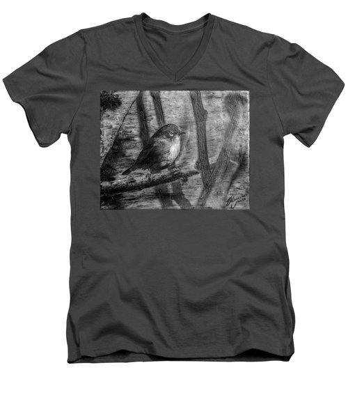 Wax-eye Men's V-Neck T-Shirt