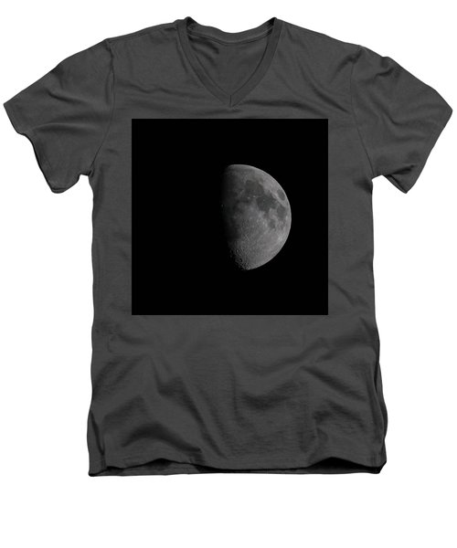 Waxing Gibbous Moon Men's V-Neck T-Shirt