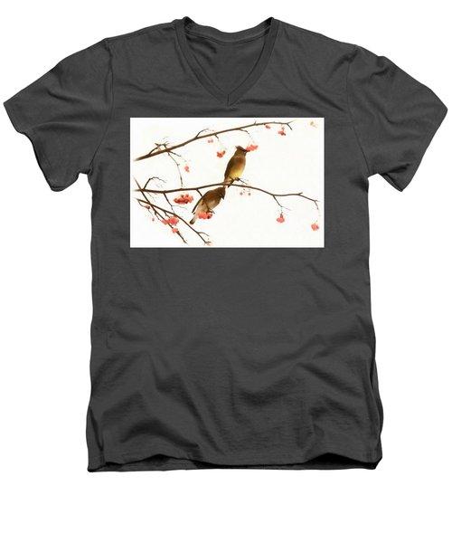 Waxwing Wonders Men's V-Neck T-Shirt
