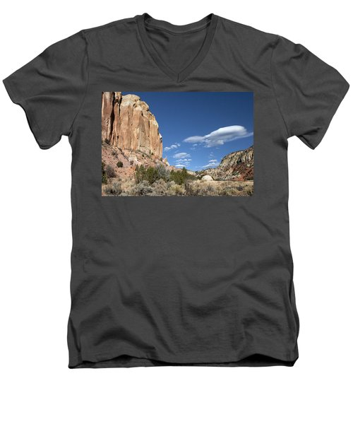 Way In The Distance Men's V-Neck T-Shirt by Elvira Butler