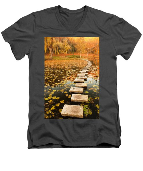 Way In The Lake Men's V-Neck T-Shirt