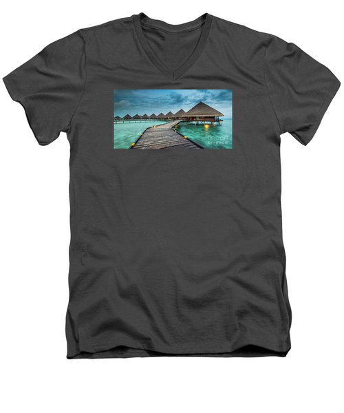 Way To Luxury 2x1 Men's V-Neck T-Shirt by Hannes Cmarits