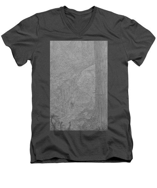Wayward Wizard Men's V-Neck T-Shirt by Corbin Cox