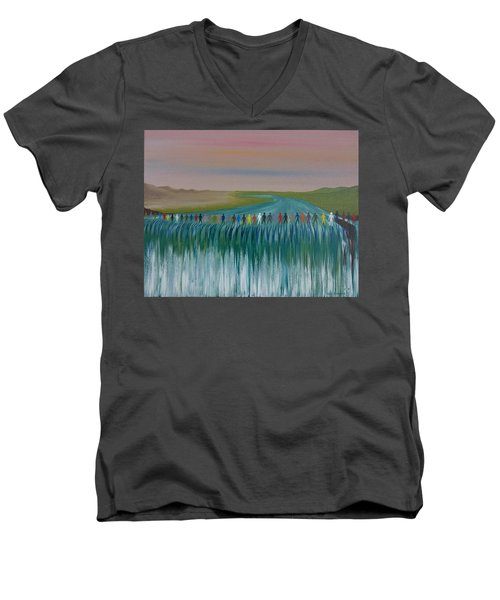 We Are All The Same 1.3 Men's V-Neck T-Shirt by Tim Mullaney