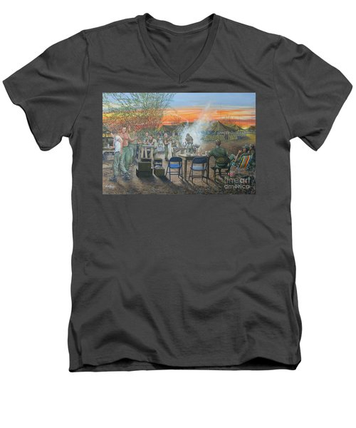 We Did It First Forrest Men's V-Neck T-Shirt