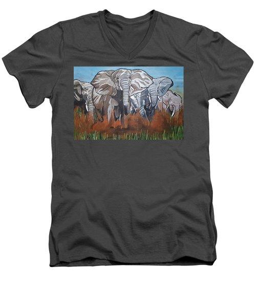 We Ready For De Road Men's V-Neck T-Shirt