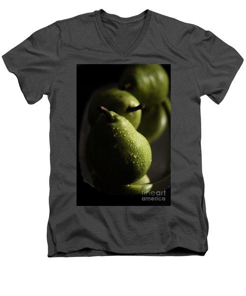 We Three Pears Men's V-Neck T-Shirt