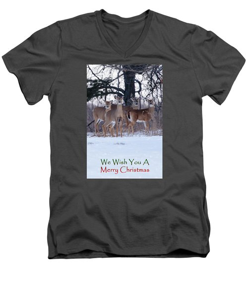 We Wish You A Merry Christmas Men's V-Neck T-Shirt by Gary Hall