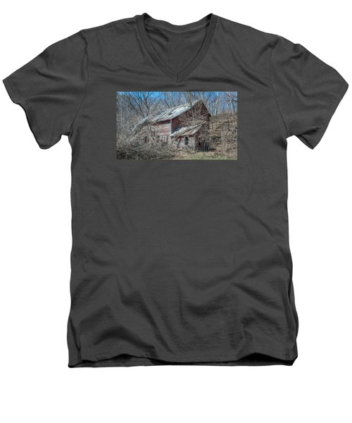 Men's V-Neck T-Shirt featuring the photograph Weathered And Broken by Dan Traun