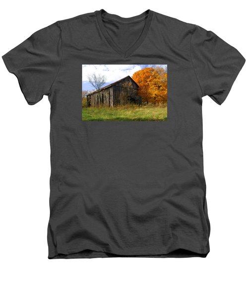 Weathered Barn 3 Men's V-Neck T-Shirt