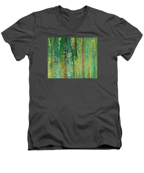 Weathered Moss Men's V-Neck T-Shirt by Alan Casadei