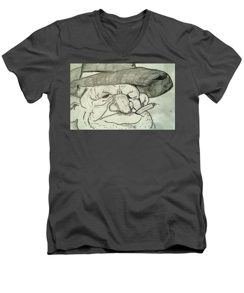 Weathered Old Man Men's V-Neck T-Shirt