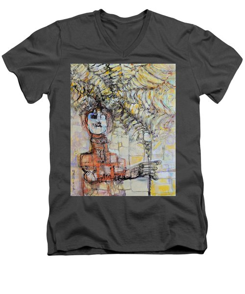 Web Of Memories Men's V-Neck T-Shirt