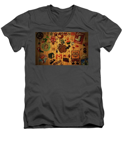 Web Men's V-Neck T-Shirt
