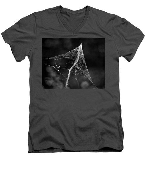 Web Tent Bw Men's V-Neck T-Shirt