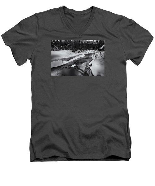 Weber Creek Men's V-Neck T-Shirt by Dan Hefle
