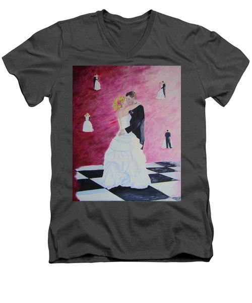 Wedding Dance Men's V-Neck T-Shirt by Lisa Rose Musselwhite