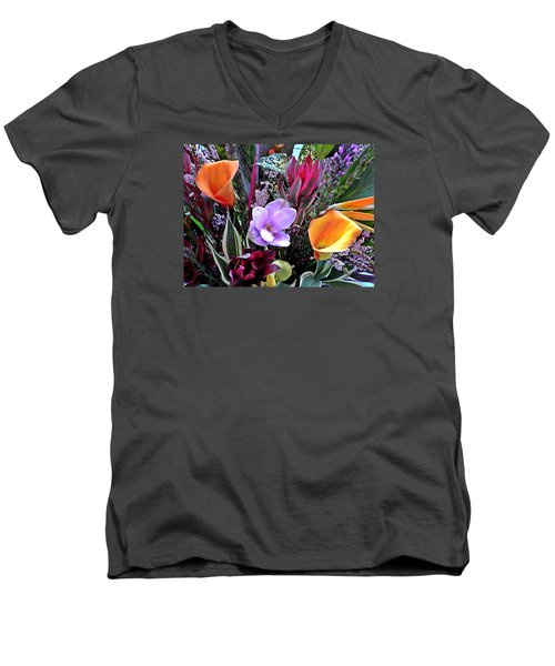 Wedding Flowers Men's V-Neck T-Shirt by Brian Chase