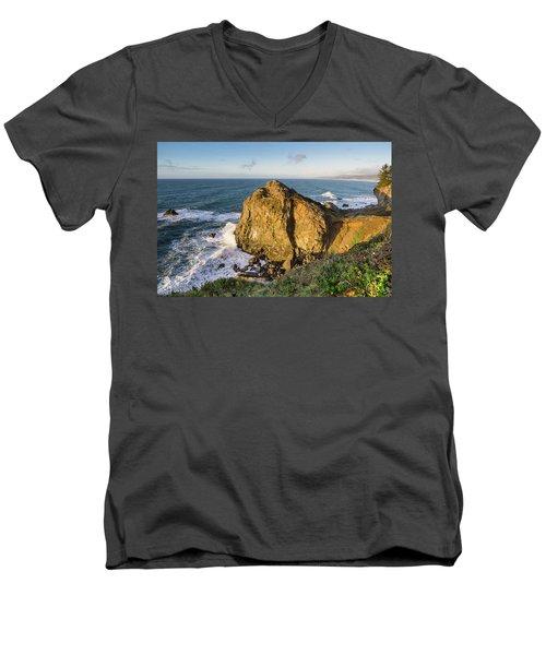 Wedding Rock Evening Light Men's V-Neck T-Shirt