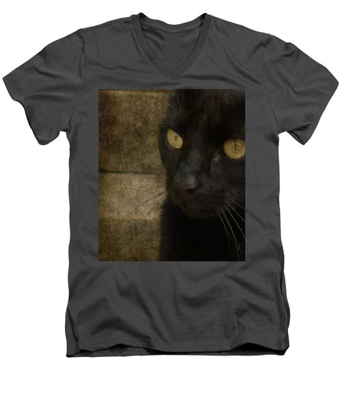 Men's V-Neck T-Shirt featuring the photograph Wee Sybil  by Paul Lovering