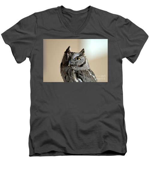 Wee Western Screech Owl Men's V-Neck T-Shirt