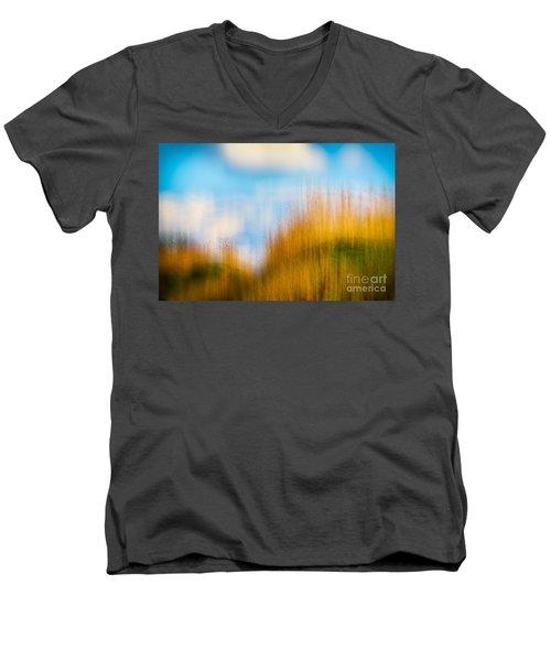 Weeds Under A Soft Blue Sky Men's V-Neck T-Shirt