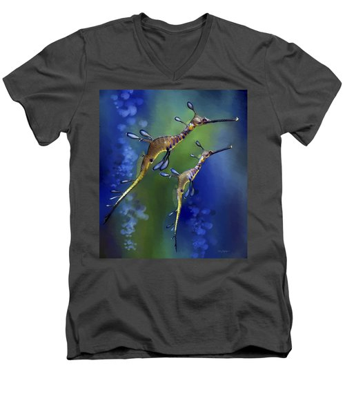 Weedy Sea Dragon Men's V-Neck T-Shirt by Thanh Thuy Nguyen
