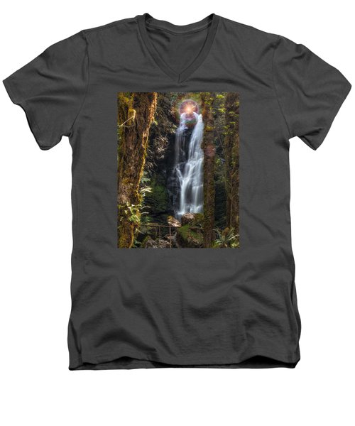 Weeping Angel Men's V-Neck T-Shirt by James Heckt