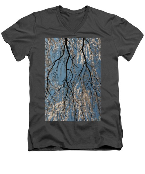 Men's V-Neck T-Shirt featuring the photograph Weeping Cherry #2 by Dana Sohr